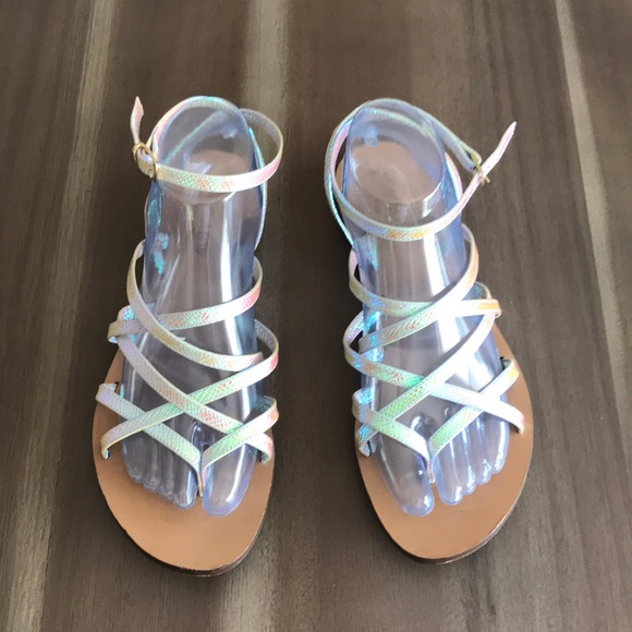 5b227f2340fc J. Crew Shoes - J. Crew Clara Iridescent Hologram Sandals